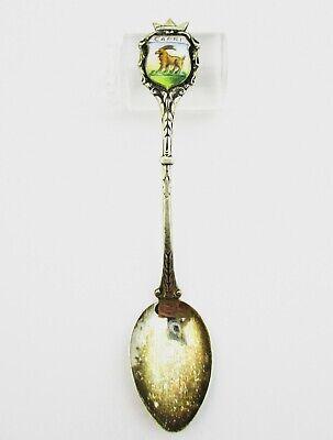 Silver And Enamel Souvenir Spoon Capri