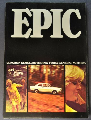 1967 GM Epic & Envoy Brochure Folder Vauxhall Excellent Original 67 Canadian