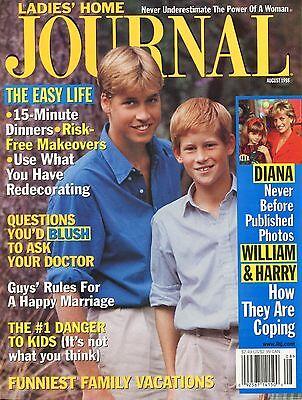 Prince William   Harry Ladies Home Journal August 1998 8 98  C 2 1