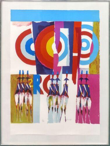 "Nicola Simbari ""carabinieri A Ostia"" | Signed Serigraph | Vibrant | Coa | Framed"