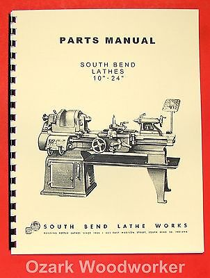 South Bend 10 13 14.5 16 1624 Lathes Parts Manual 0664