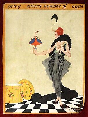 Vogue Magazine Original Cover Only ~ March 1, 1914 ~ Helen Dryden
