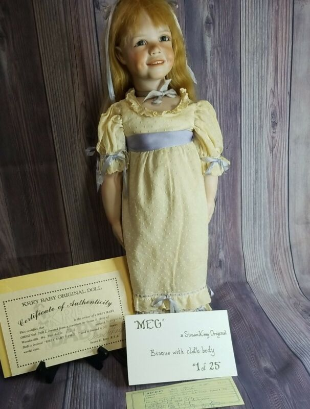 "Vintage Susan Krey ""Meg"" Bisque #1 Prototype 1988"