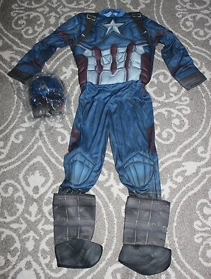 Halloween Costumes For Boys Age 4 (NEW Boys Rubies CAPTAIN AMERICA Marvel Halloween Costume size 8/10 Ages 5-7)