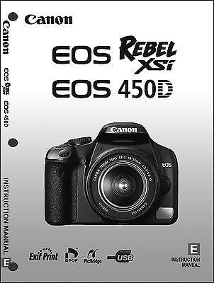 Canon REBEL XSi EOS 450D Digital Camera User Instruction Guide  Manual