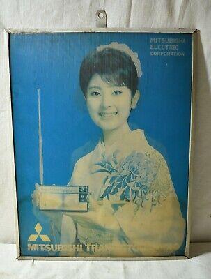 Mitsubishi Advertising Electric Corporation Sign 3d Mitsubishi Transistor Radio