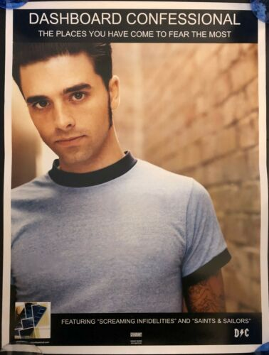 DASHBOARD CONFESSIONAL PLACES HAVE YOU OG PROMO POSTER NEVER HUNG 18X24 PUNK EMO