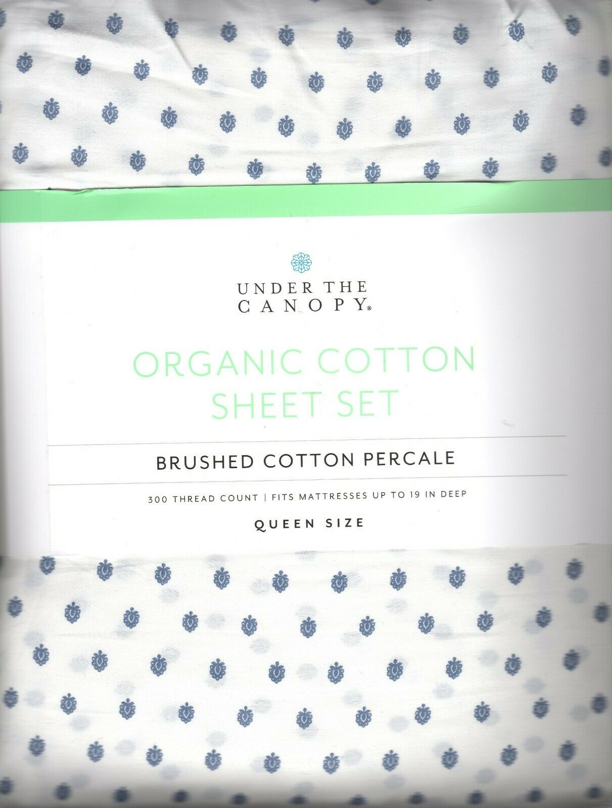 fiori queen sheet set 4pc 100 percent