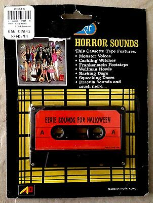 EERIE SOUNDS FOR HALLOWEEN: Vintage 1980s NOVELTY STORE SOUND EFFECTS Cassette!