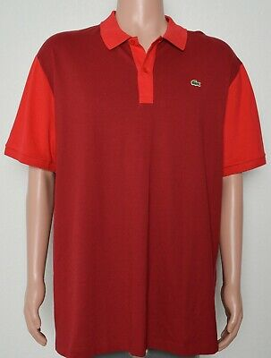 Lacoste #8163 NEW Men's Size 4XL Slim Fit Short Sleeve Polo Shirt