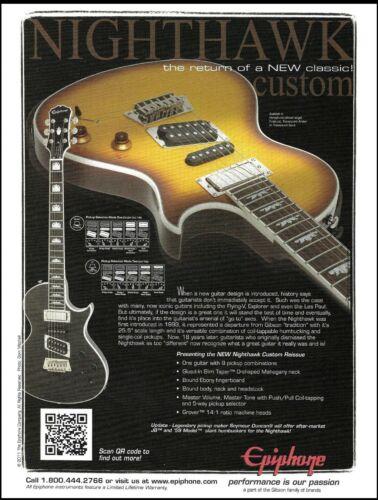 Epiphone Nighthawk Custom Reissue guitar advertisement 2011 ad print