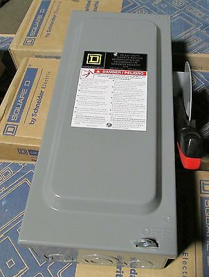 O Square D 30 Amp Safety Switch Disconnect Cat.h321n Nib New In Box