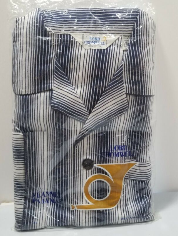 Vintage NOS Lord Cromwell Striped Flannel Men