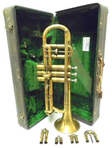 Vintage 1916 Raw Brass Conn Cornet in Good Condition - Make an Offer!!