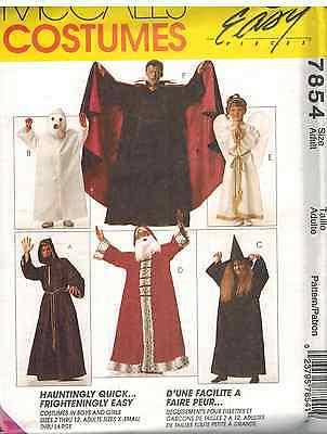 7854 UNCUT Vintage McCalls SEWING Pattern Halloween Costume Dracula Angel Ghost - Halloween Ghost Costume Pattern