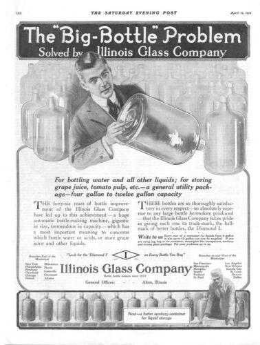 Illinois Glass Company - Alton, Illinois  -   Big Bottle Problem  -  1919