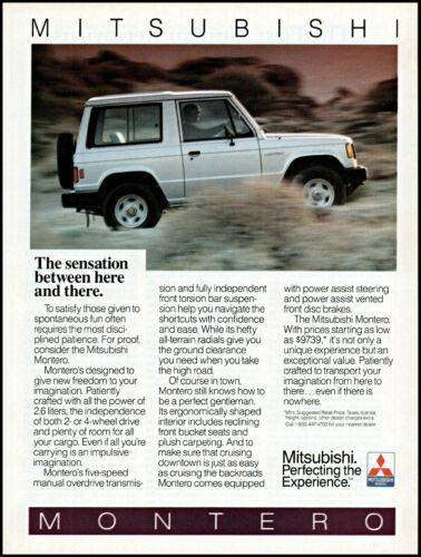 1986 Mitsubishi Montero Sport Utility 4WD off-road vintage photo print ad ads50