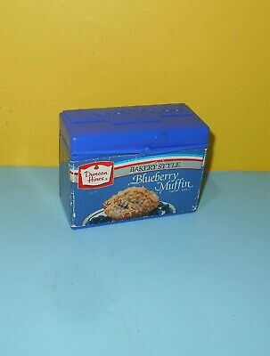Fisher Price Fun Food Plastic Toy Duncan Hines Blueberry Muffin Mix Box Part Duncan Hines Muffin Mix