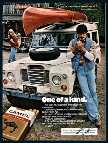 1978 LAND ROVER Camel Cigarettes Vintage Photo AD