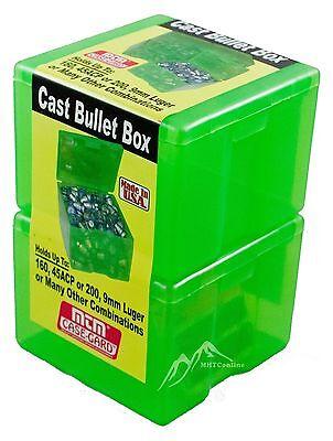 MTM Case-Gard Cast Bullet Box Plastic Storage  2-pack # Cast-1-16 Factory New
