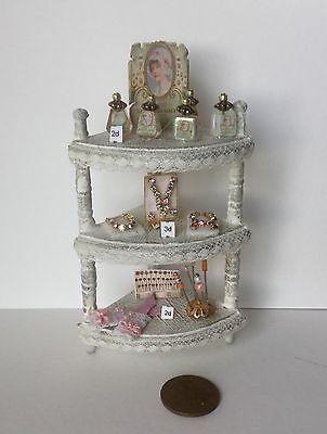 1:12  Dolls House miniature SHABBY CHIC LADIES SHOP FILLED CORNER DISPLAY