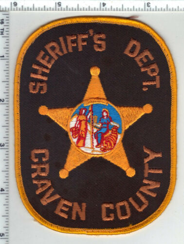 Craven County Sheriff (North Carolina) 3rd Issue Uniform Take-Off Shoulder Patch