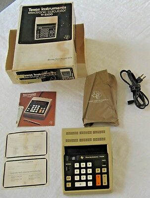 Vintage Texas Instruments TI-3500 Electronic Desk Calculator Office L4 for sale  Shipping to India