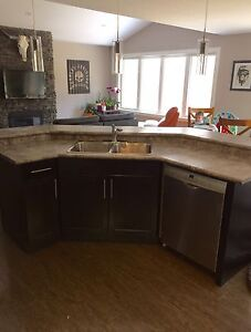 2 Level Island countertops w/ double sink & faucet
