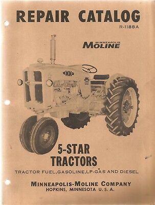 Minneapolis Moline 5-star Tractors Parts Manual