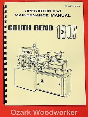 South Bend 1307 Metal Lathe Operators Parts Manual 0666