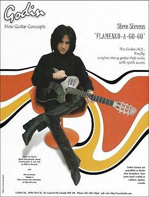 Steve Stevens Godin ACS guitar advertisement Flamenco-A-Go-Go 1999 ad print
