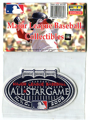 2008 ALL STAR GAME AT NEW YORK YANKEES OFFICIAL MLB BASEBALL JERSEY PATCH Game Official Mlb Baseball Jersey