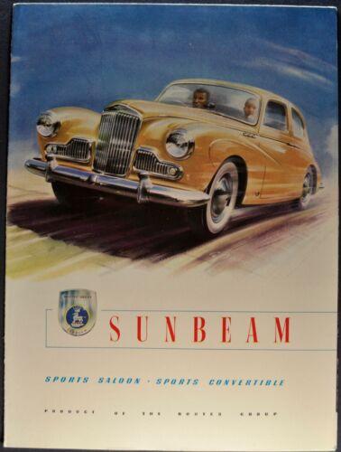 1955 Sunbeam Mark III Sport Saloon, Convertible Brochure Excellent Original 55