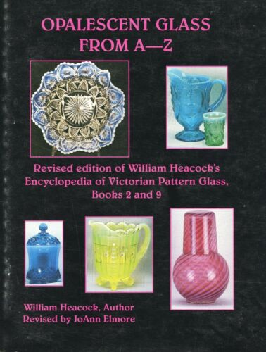 Opalescent Glass – Makers Patterns Dates (1,300+ Items) / In-Depth Book + Values