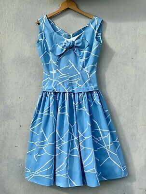 50s vintage Horrockses Fashions full-skirt printed cotton summer dress - SMALL