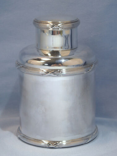 French Neo-Classical Sterling Silver Tea Caddy by A. Risler & Carre, Paris