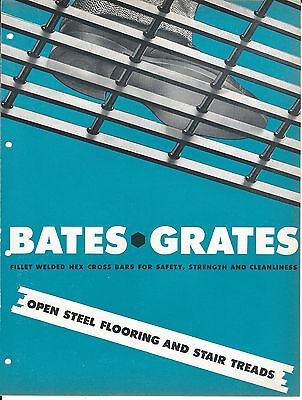Mro Brochure - Bates Grates - Open Steel Flooring Stair Treads - C1952 Mr82