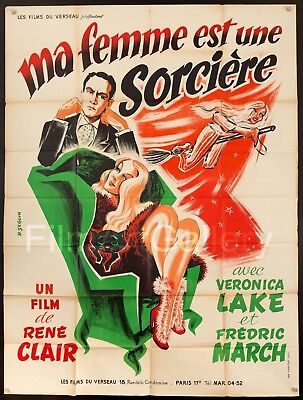 I MARRIED A WITCH French 47x63 RI poster Veronica Lake Rene Clair FilmArtGallery