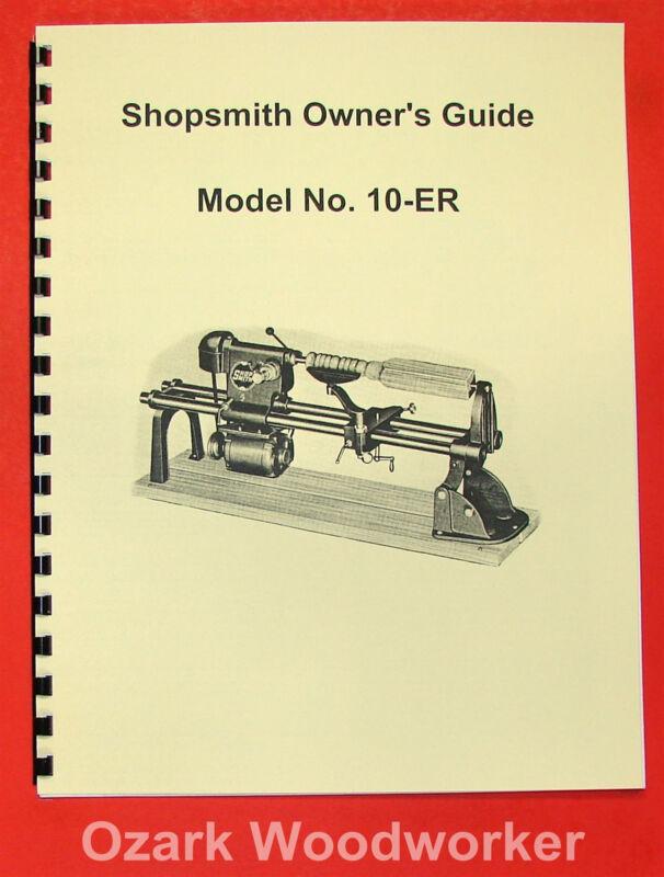 SHOPSMITH Model 10-ER Owner
