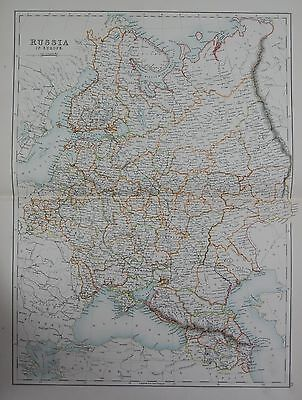 1897 RUSSIA IN EUROPE LARGE MAP