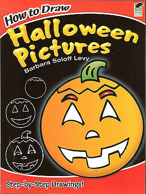 How to Draw Halloween Pictures - step-by-step drawings by Barbara Soloff Levy PB