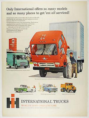 Vintage 1960 INTERNATIONAL HARVESTER TRUCK - Large Magazine Print Ad Automobile