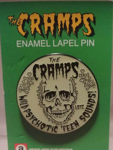 cramps psychotic sounds glow in the dark enamel pin horror punk