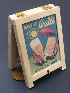 Ice-Cream-Advertising-Board-Dolls-House-Miniature-Pub-Cafe-Sandwich-Board