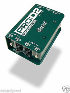 Radial ProD2 Pro-D2 Stereo Passive Direct Box DI BRAND NEW FREE POST