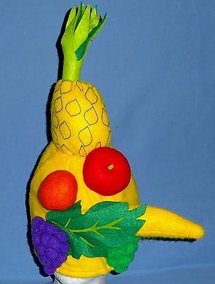Tropical Fruit Hat Costume-plush-Samba,Chiquita Banana;one size;Caribbean-NWOT - Chiquita Costume