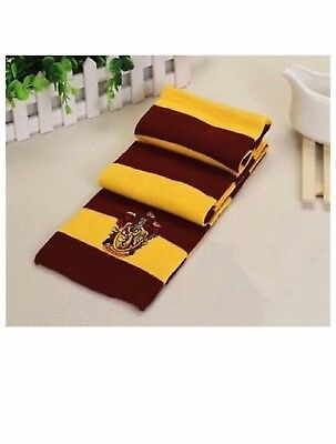 Harry Potter Gryffindor Knit Wool Scarf Wrap Warm- Costume/ Xmas  Gift
