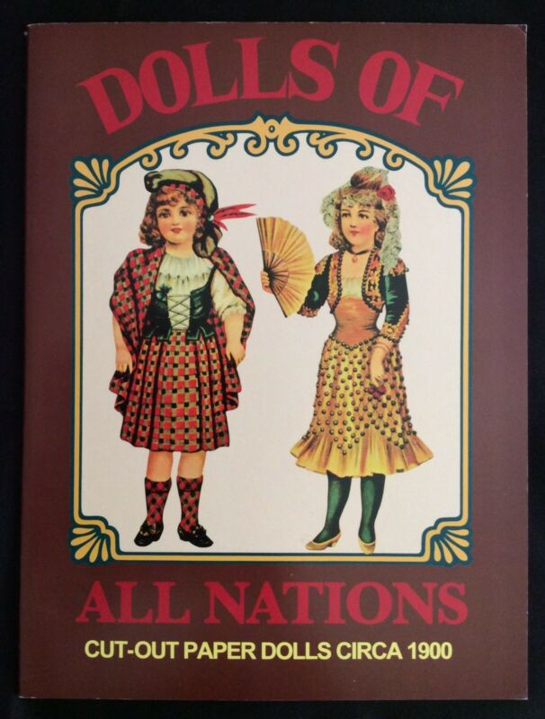 Dolls of the Nations, Shackman 1980, Uncut, Antique Paper Doll Reproduction