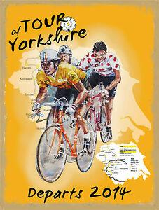 Carretera-Carrera-Tour-de-yorkshire-Ciclismo-Moto-Metal-Pequena