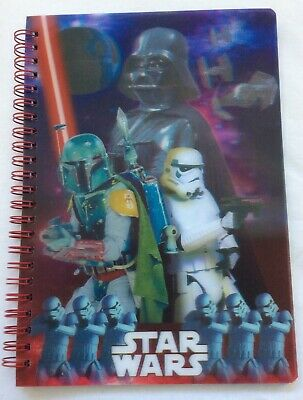 DISNEY STAR WARS DARTH VADER STORMTROOPER 3D HOLOGRAPH A5 NOTEBOOK PAD JOTTER